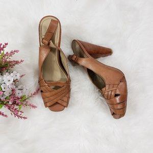 Kenneth Cole Slingback Peep Toe Heel Size 9.5